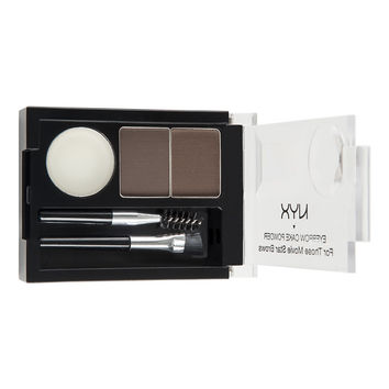 NYX - Eyebrow Cake Powder - Dark Brown/Brown - ECP02