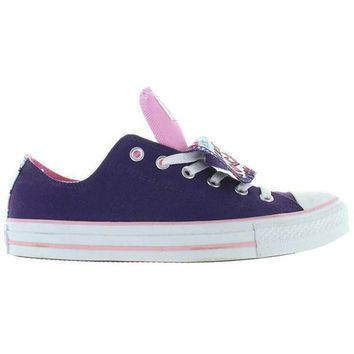 Converse All Star Chuck Taylor 2x Tongue   Grape/lady Pink Canvas Double Tongue Low Top Sneaker