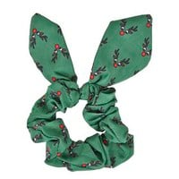 Rudolph Scrunchie - Green