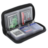 Black Memory Card Storage Carrying Case Holder Wallet 18slots + 4 slots For CF SD SDHC MS DS 3DS Game accessory