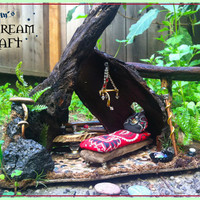 Fairy Hollow  // Fairy Garden Home //Outdoor display ok