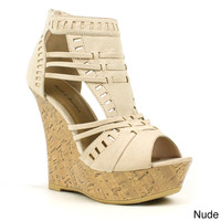Mark & Maddux Women's 'Diego-03' Strappy Eye-lit Platform Wedge