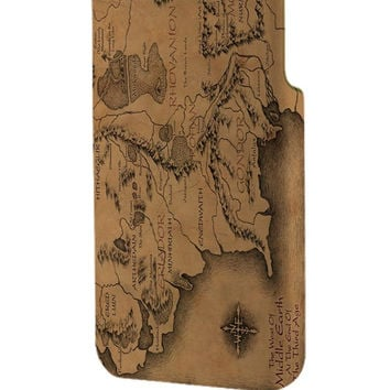 Best 3D Full Wrap Phone Case - Hard (PC) Cover with lord of the rings map new Design