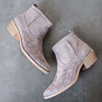 embroidered desert ankle boots