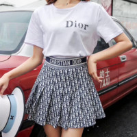 Dior Women Top Skirt Two-Piece