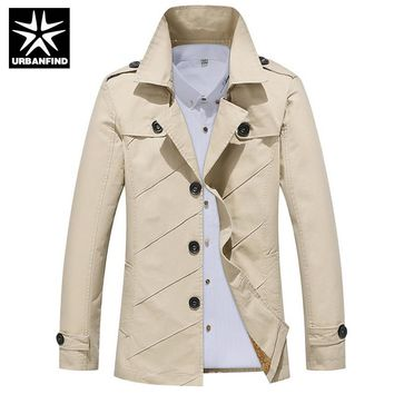 Autumn Winter Coats Men Thick Warm Trench Overcoat Plus Size M-4XL Plush Lining Man Fashion Windbreaker