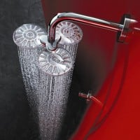Hansa HansaClear Wall Mount Shower Head with Arm