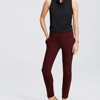 Double Cloth Ankle Pants | Ann Taylor