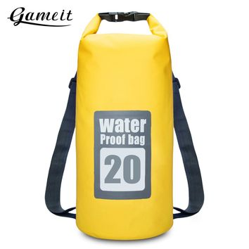 Gameit 20L Water Resistant Dry Sack Bag Swimming Traveling Rafting Backpack Storage Outdoor Sport Bags Travel Kit 2 Colors
