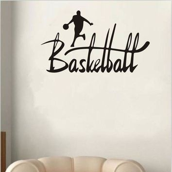 ICIKU7Q Basketball Sport Removable Wall Sticker Room Mural Decal Home Decor Vinyl Art wall stickers for kids rooms