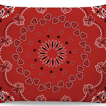 ROB Red And Black Bandana Like Pillowcase