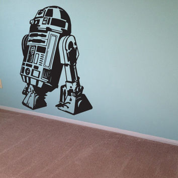 Star Wars Wall Decal R2 D2 Sticker Vinyl Decal Wall Art Room Decor Kids Boys Geek Gamer