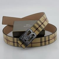 Boys & Men Burberry Men Fashion Smooth Buckle Belt Leather Belt