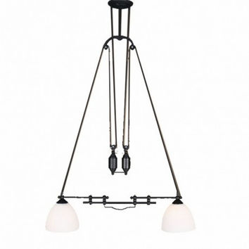 2 light up and down adjustable edison retro industrial countryside roma pulley pendant lamp light