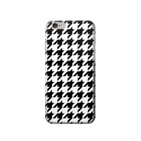 P2301 Black White Houndstooth Monogram Pattern Case For IPHONE 6