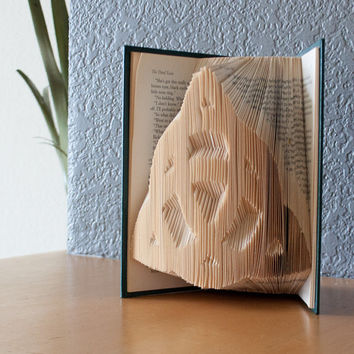 Celtic Knot- Folded Book Art- Book Lovers-Housewarming Gift-Home Decor- Trinity