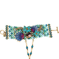 INTO THE BLUE BEADED BRACELET AND RING HARNESS MULTI