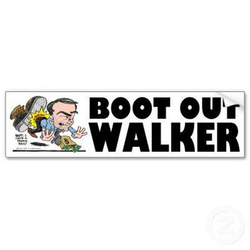 Boot Out Walker Bumper Sticker from Zazzle.com