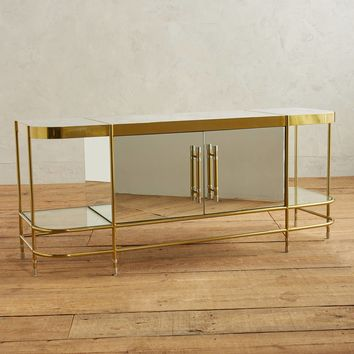 Brass Parabola Console