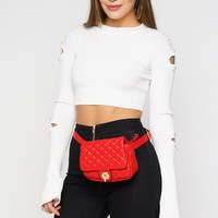 Pearl Girl Cropped Sweater - Ivory
