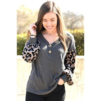All For Fun Top - Leopard