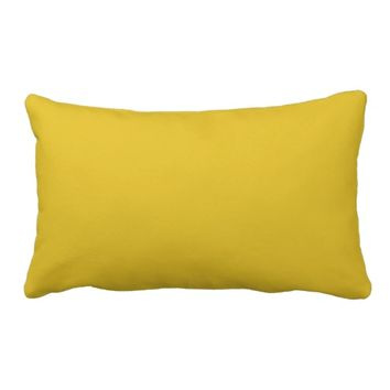 "Mustard Yellow Throw Pillow Lumbar 13"" x 21"""