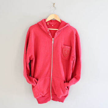 Puma Hoodie Red Ferrari X Puma Crossover Zip Up Hoodie Puma Race Car Jacket Pullover Grunge Jacket Hipster Unisex 90s Vintage Size M - L