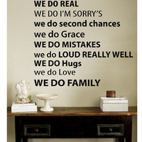 Wall Decal   IN THIS HOME  Vinyl Wall Art Quote by vinylletters