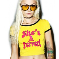 O Mighty She's A Pervert Ringer Tee | Dolls Kill