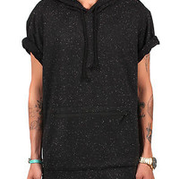 The Stash Short Sleeve Hoodie (Black)