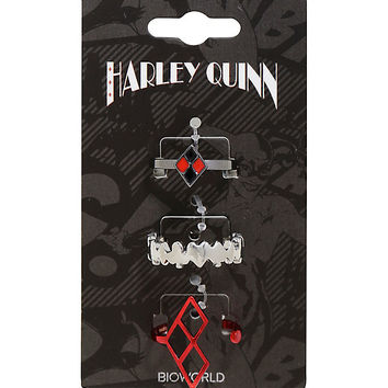 DC Comics Harley Quinn Ring Set