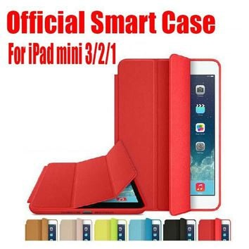 1PC Newest Official Design Best Quality 7.9 inch PU Leather Smart Case For Apple iPad mini 3 2 1 + Screen Film NO: IM01
