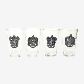 Harry Potter House Crest Pint Glass Set