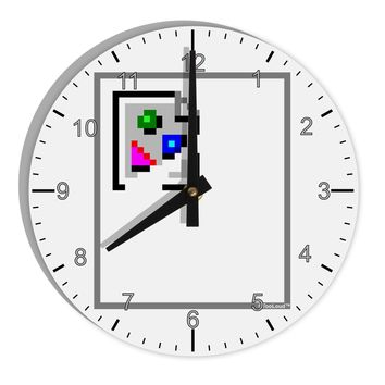 "Broken Image Link - Tech Humor 8"" Round Wall Clock with Numbers by TooLoud"