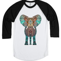 Elephant-Unisex White/Black T-Shirt