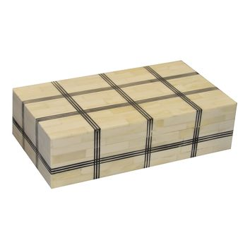 Hatch Pattern Bone Box