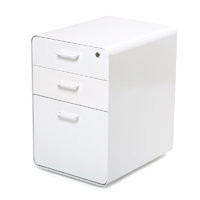 White West 18th File Cabinet