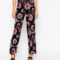 Motel Tapestry Print Wide Leg Trousers