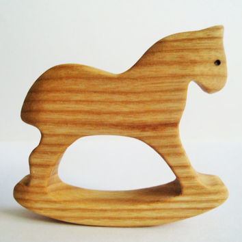 Wooden Baby Toy Horse Safe Infant Toy Baby shower Wooden Toys Animal figurine Gift for girls Learning toy Wood toy Eco friendly