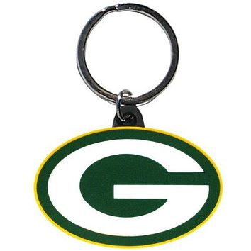 Green Bay Packers Flex Rubber Key Chain