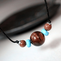 Red Tiger's Eye Necklace - Red Tiger's Eye Choker - Gift For Her - Gemstone Neck