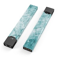 Skin Decal Kit for the Pax JUUL - Cracked Turquise Marble Surface