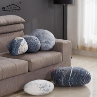 New Arrival outdoor cushions Simulation Stone Pillow cover/Creative Living Pillow Colorful Country Road Pebble floor cushions