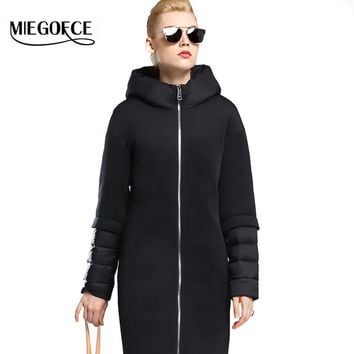 New Winter Women Coat Jacket Warm High Quality Woman Down Parka with Hood Winter Coat with Stand-up Collar