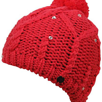 Roxy Womens Girls Shooting Star Beanie Hat One Size Azalea