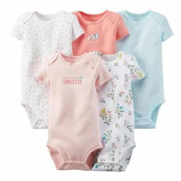 5pcs lot Spring Autumn Long Sleeve bebes set Original Baby Boy Girl Bodysuit Newborn Bodysuit Baby Clothing Overall