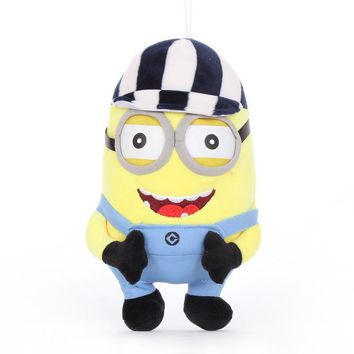 22cm Minions Bob Kevin Stuart Minions Movie Plush toy Animal pendant kids toy baby gift Birthday gift
