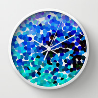 FANTASY-FOREVER IN BLUE DREAMS Wall Clock by catspaws