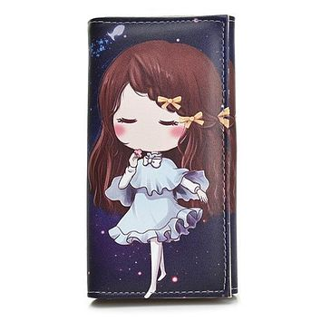 Cute Girls Coin Purse Fashion Women Wallets Lady Purses Pocket Clutch Long Moneybags Handbags Cards ID Holder Female Wallet Bags