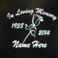In Loving Memory Of memorial vehicle auto window decal custom sticker